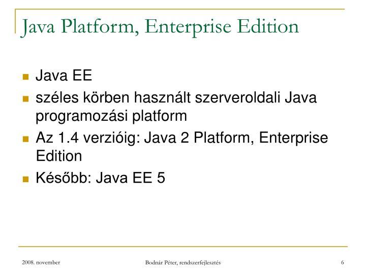 Java Platform, Enterprise Edition