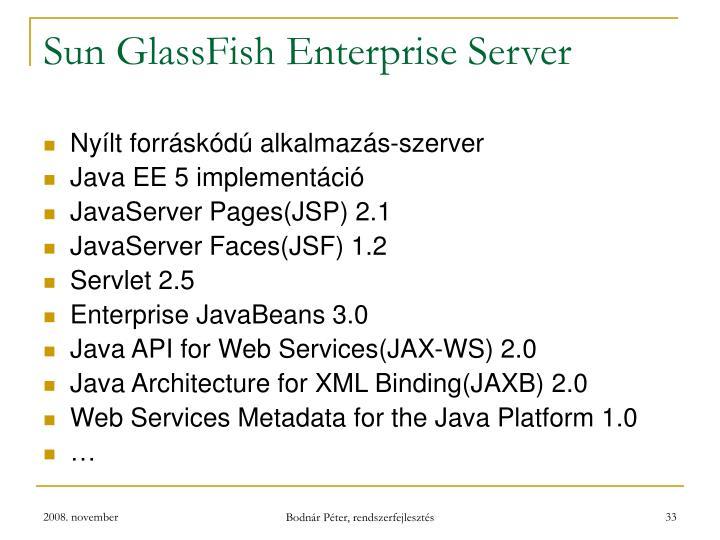 Sun GlassFish Enterprise Server