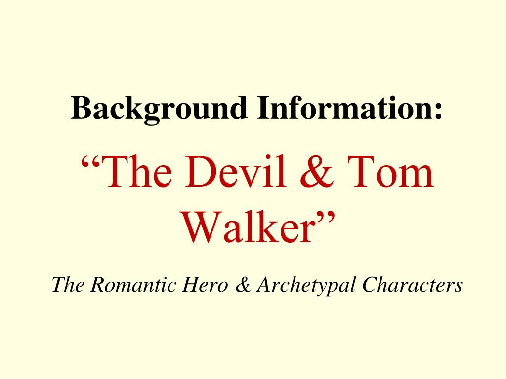devil and tom walker characters