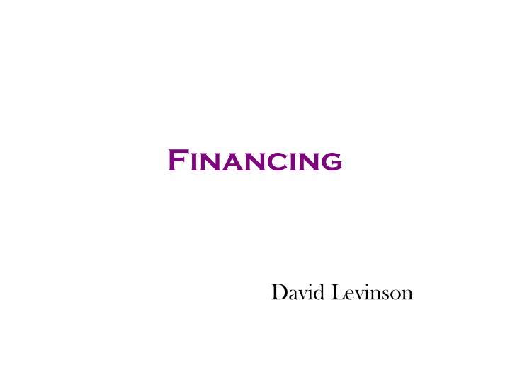 financing n.