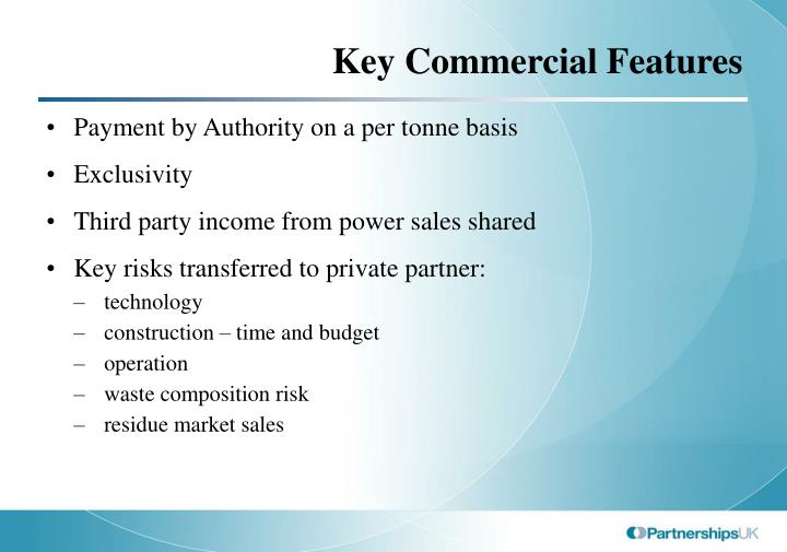 Key Commercial Features