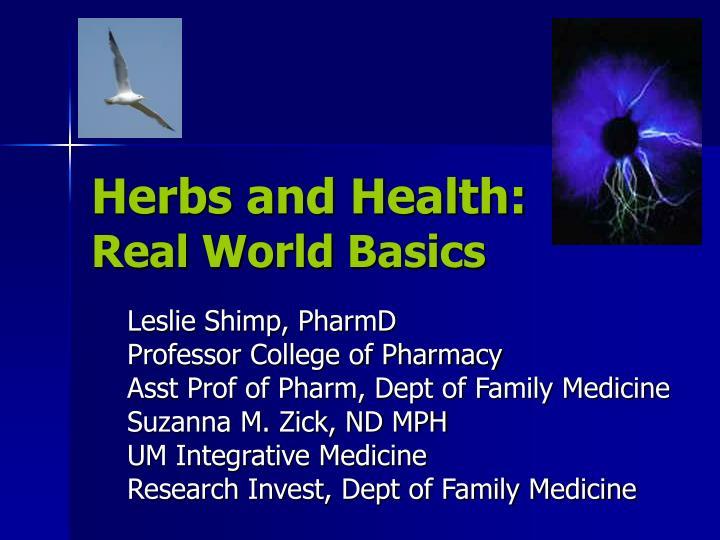 Herbs and Health: