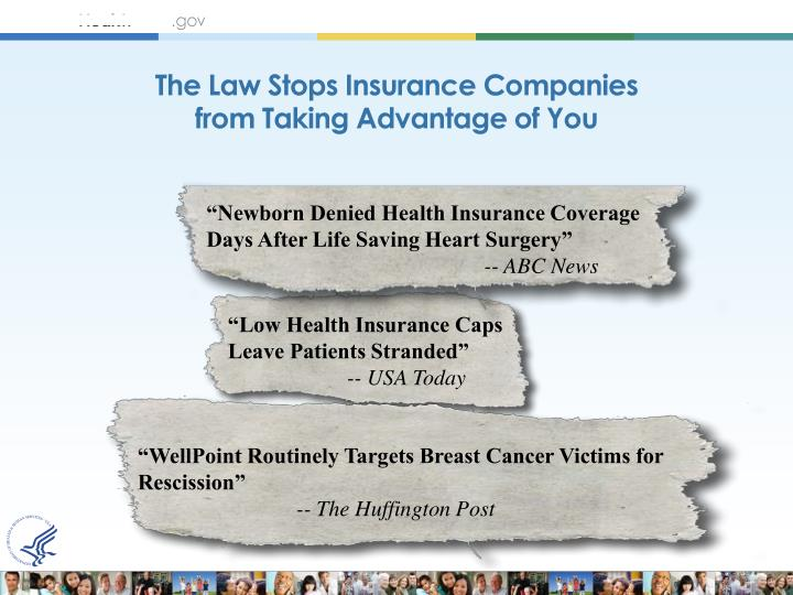 The Law Stops Insurance Companies