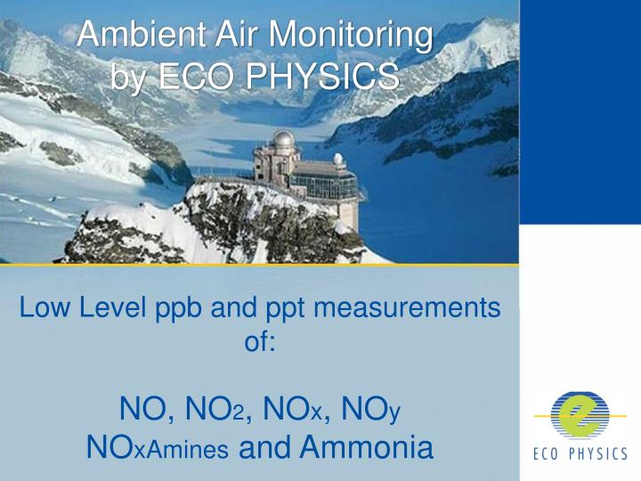 ambient air monitoring by eco physics n.