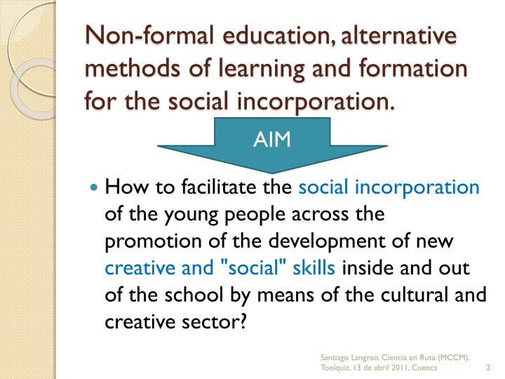 formal vs non formal education