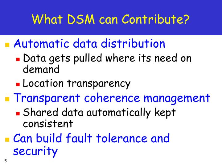 What DSM can Contribute?
