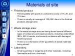 materials at site1
