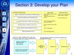 section 3 develop your plan