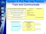section 4 put plan into practice train and communicate