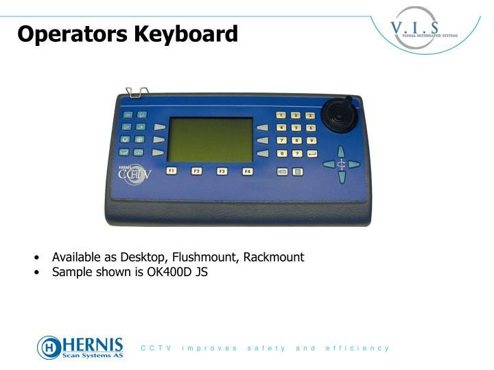 Operators Keyboard