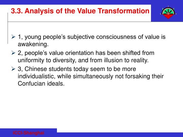 1, young people's subjective consciousness of value is awakening.