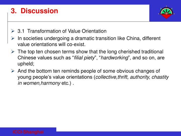 3.1  Transformation of Value Orientation