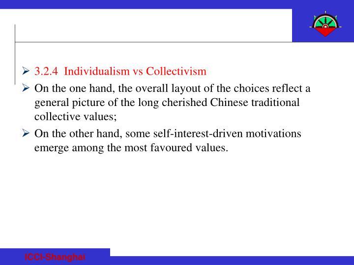 3.2.4  Individualism vs Collectivism