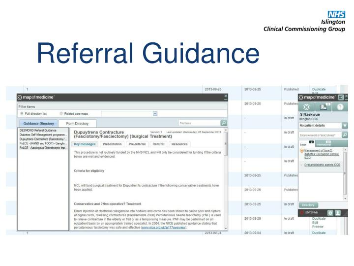 Referral Guidance