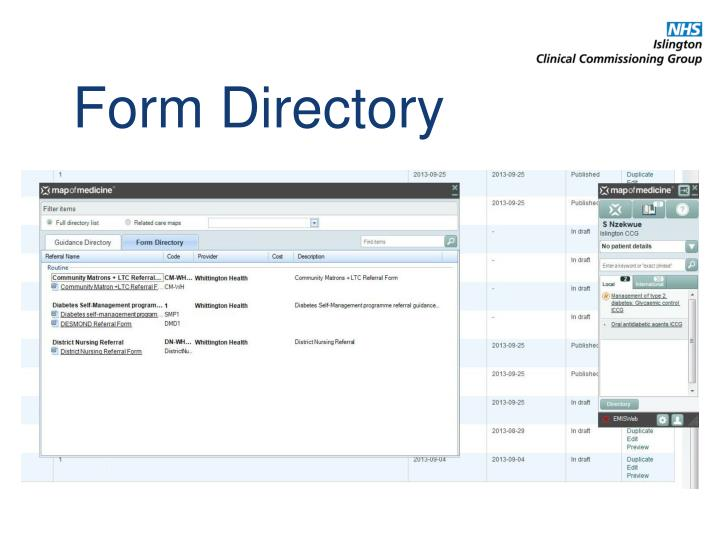 Form Directory