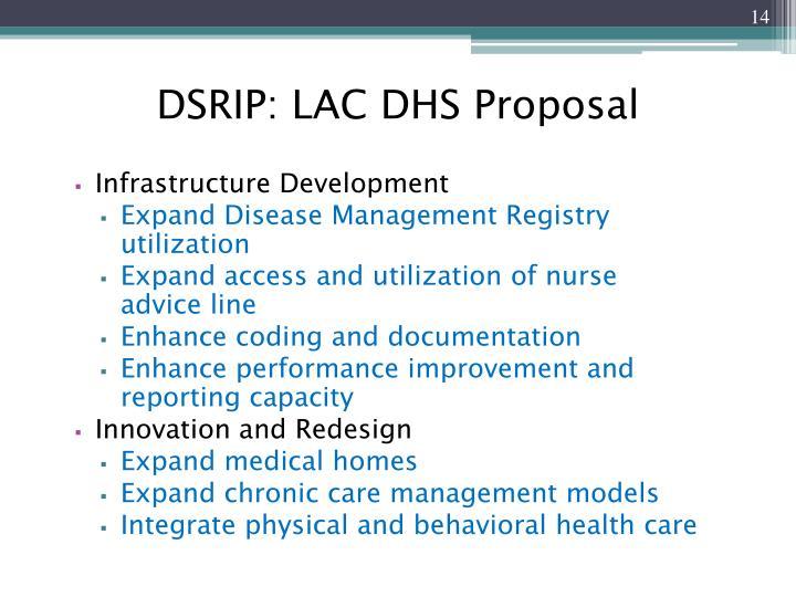 DSRIP: LAC DHS Proposal