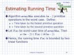 estimating running time