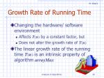 growth rate of running time