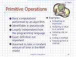 primitive operations