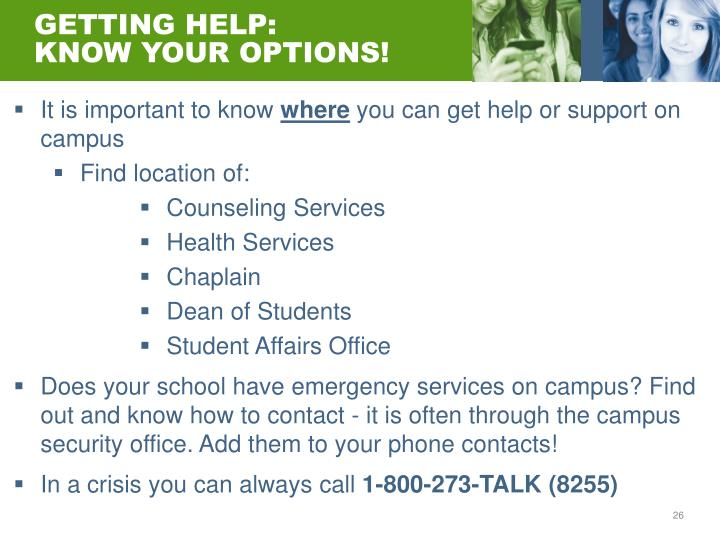 GETTING HELP:
