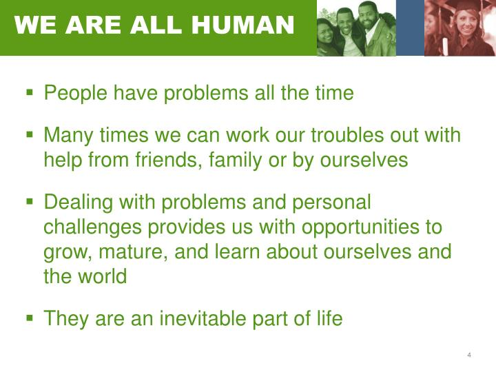 WE ARE ALL HUMAN