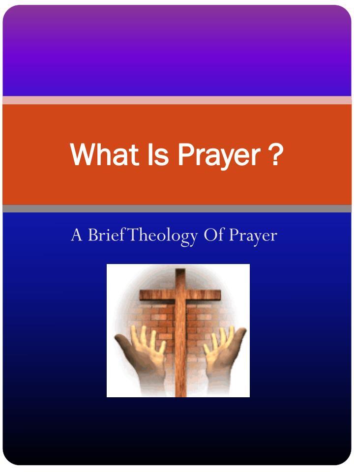what is prayer n.