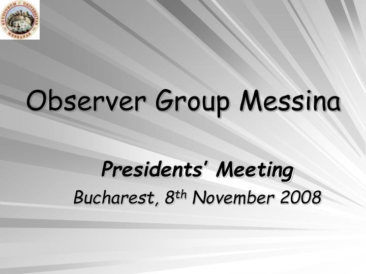 observer group messina n.