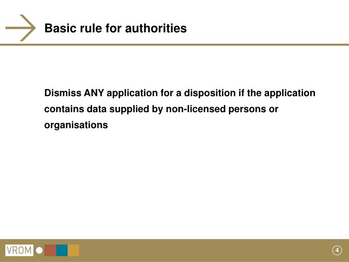 Basic rule for authorities