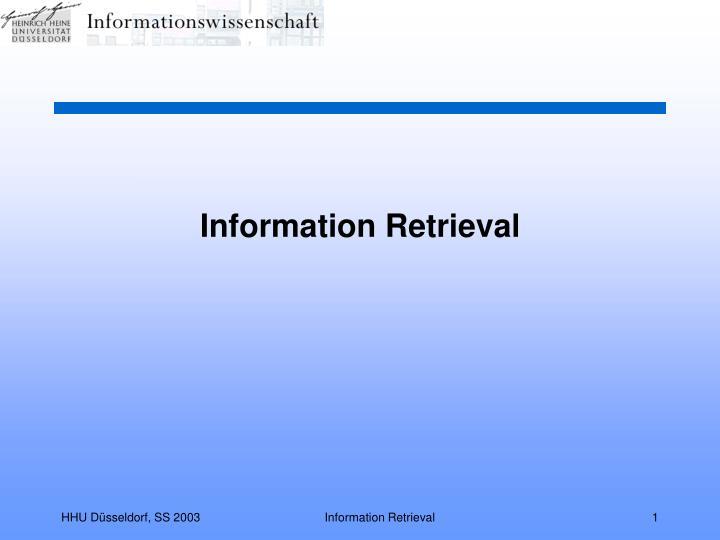 information retrieval n.