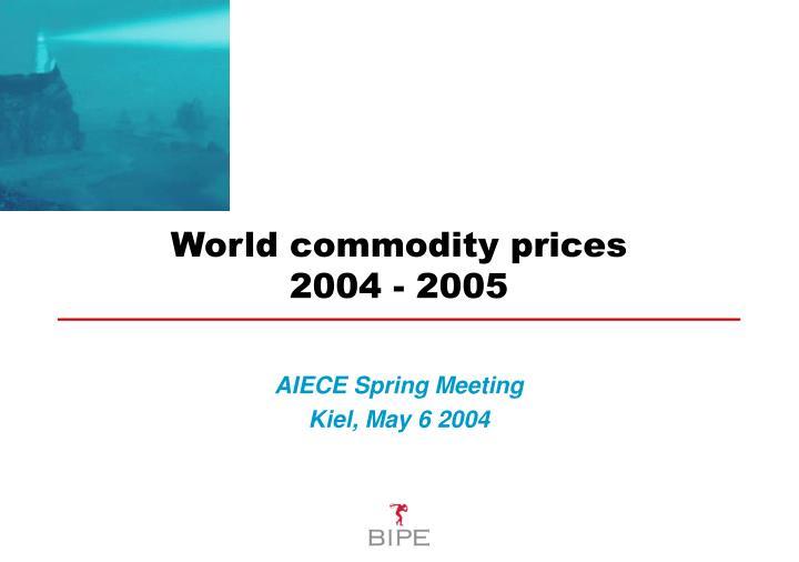 World commodity prices