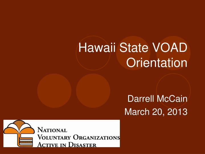 hawaii state voad orientation n.