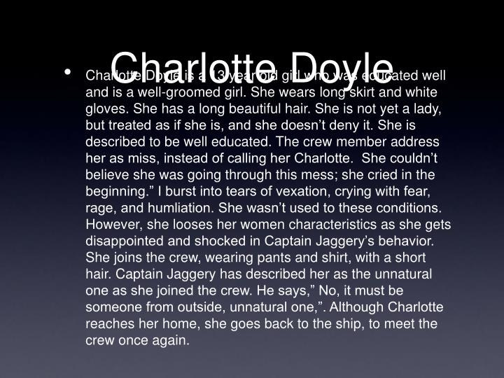 charlotte doyle character analysis A detailed description of the true confessions of charlotte doyle characters and their importance toggle navigation  character analysis, themes,.