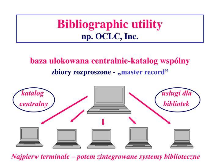 Bibliographic utility