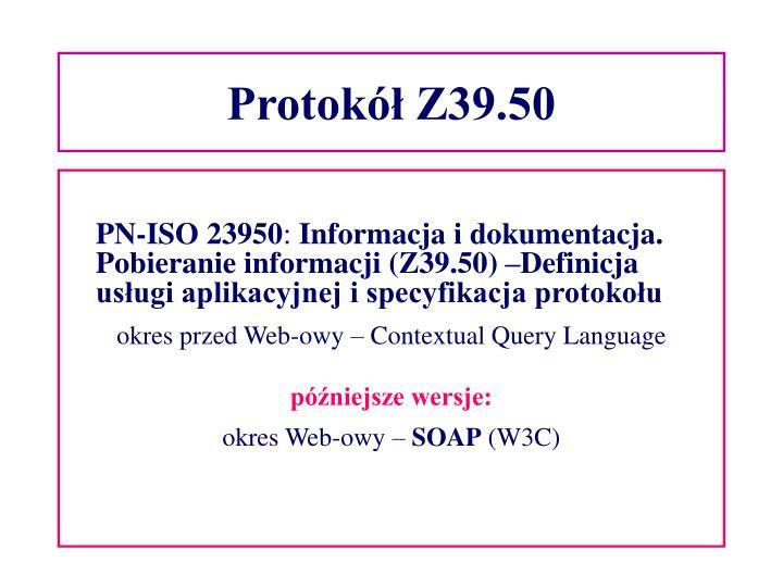 Protokół Z39.50