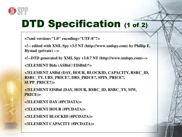 DTD Specification