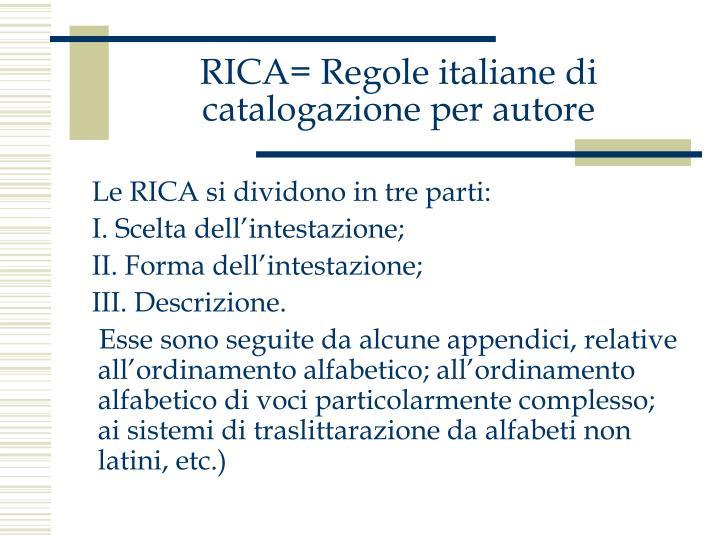 Rica regole italiane di catalogazione per autore2