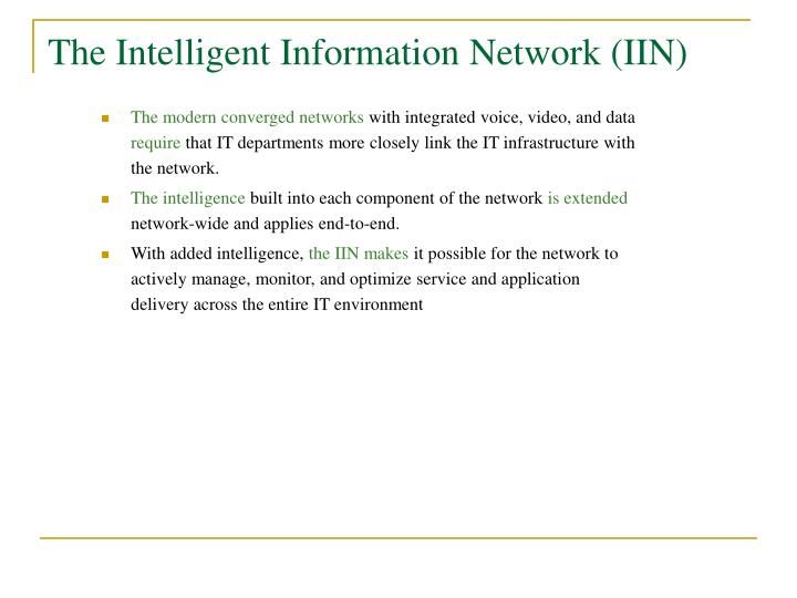 The Intelligent Information Network (IIN)