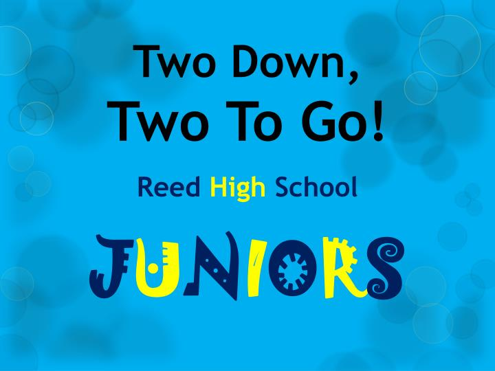 two down two to go reed high school n.