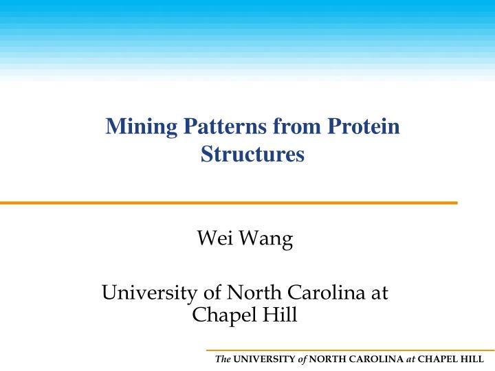 Mining patterns from protein structures