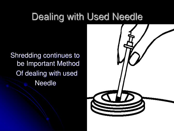 Dealing with Used Needle