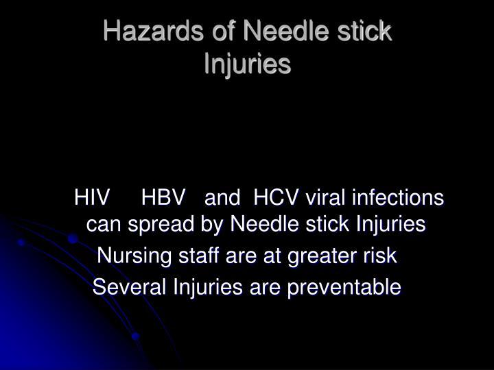 Hazards of Needle stick