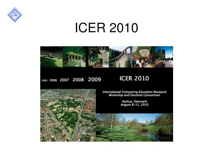 ICER 2010