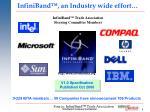 infiniband an industry wide effort