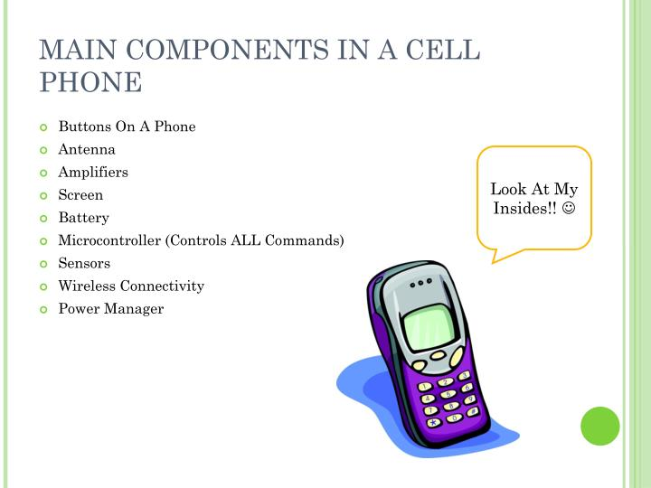 MAIN COMPONENTS IN A CELL PHONE
