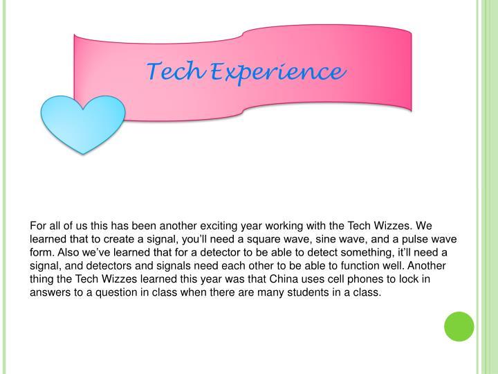 Tech Experience