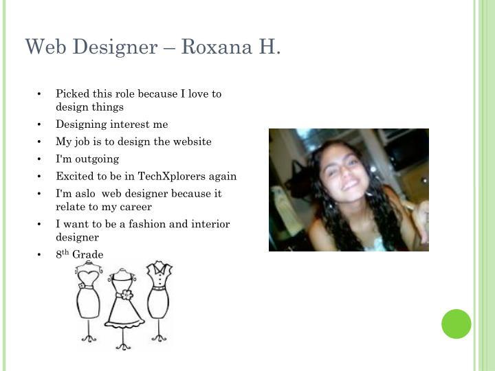 Web Designer – Roxana H.