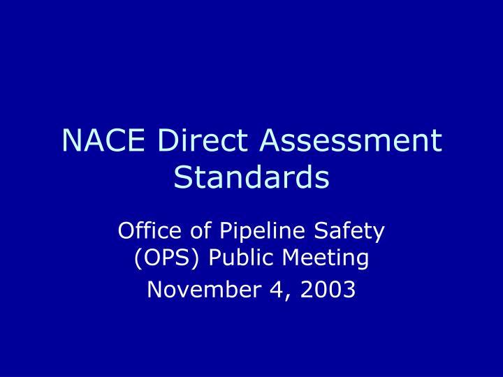 nace direct assessment standards n.