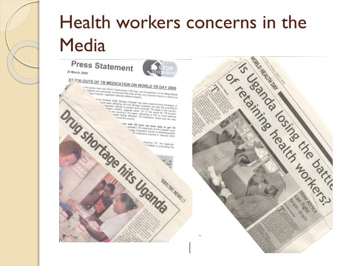 Health workers concerns in the Media