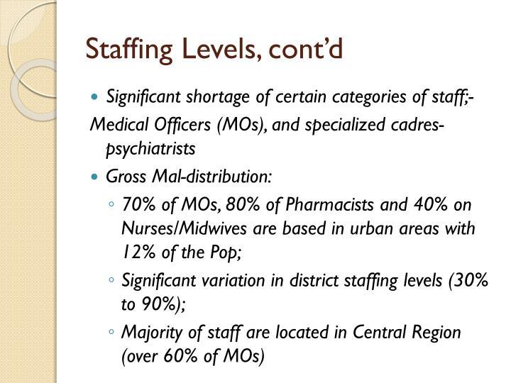Staffing Levels, cont'd