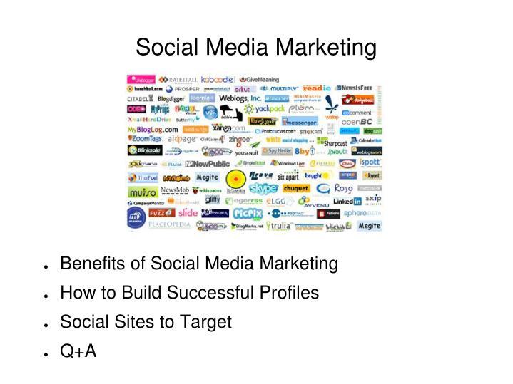 social media marketing n.